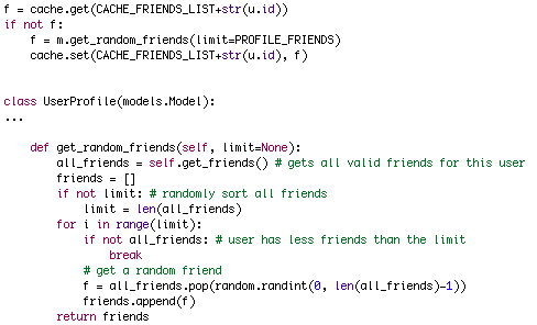 Random Friends Code After