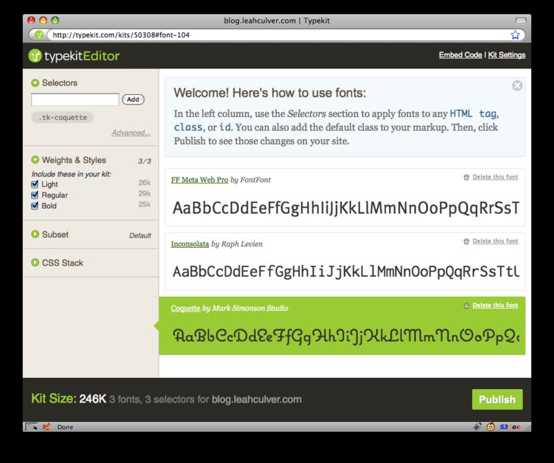 Typekit-kit-editor