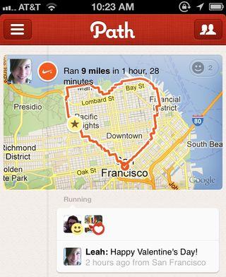 Path run heart