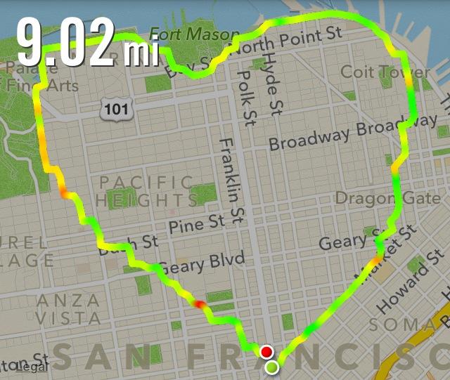 Nike+ run heart