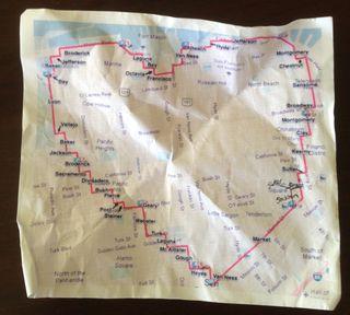 Map run heart
